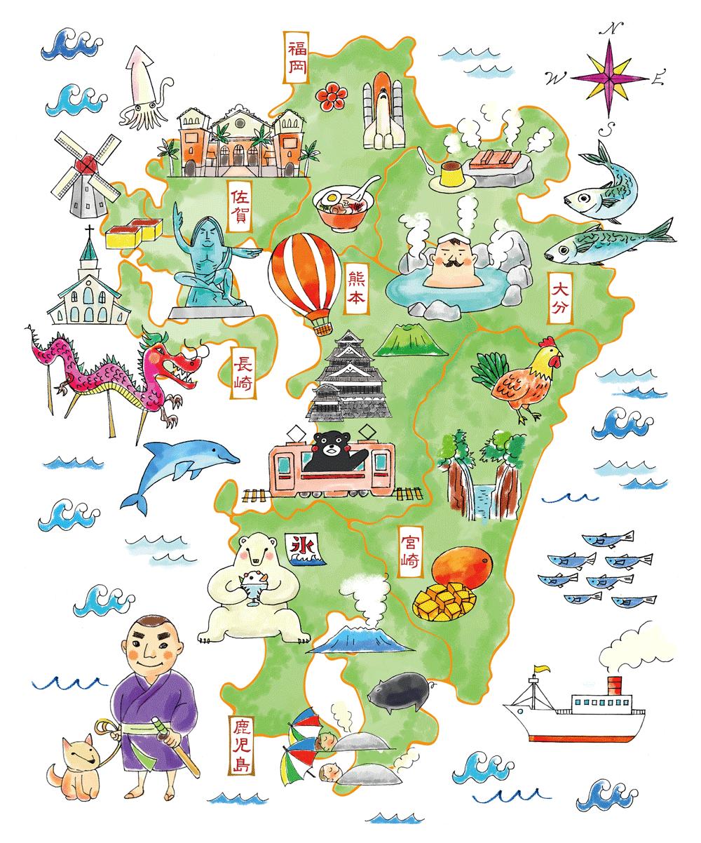 地図 九州